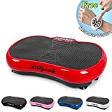 Lillyvale Vibration Machine 2018 New Model Exercise Vibrating Plate Platform Trainer Body Shaper Fitness (Red)