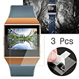 dulawei3 3Pcs High Clear Anti-Scratch Tempered Glass Screen Protector Film for Fitbit Ionic Watch