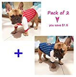 Dog Jacket,Rdc Pet Apparel,Autumn Dog Hoodie Sweater, Cotton Jumper Coat for Small Dog Medium Dog Fat Dog Bulldog Cat (XXL, Blue+Red) Review