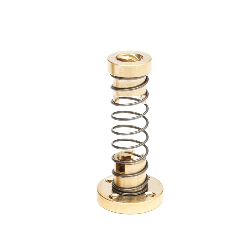 Redrex Brass Anti-backlash Nut with Loaded Spring for T8 Lead Screw CNC 3D Printer Parts