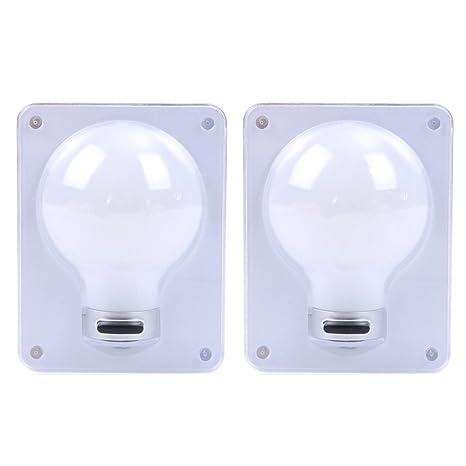 check out 4495b 8aa23 LEDMOMO 2PCS Cordless COB LED Wall Lamp Battery Operated ...