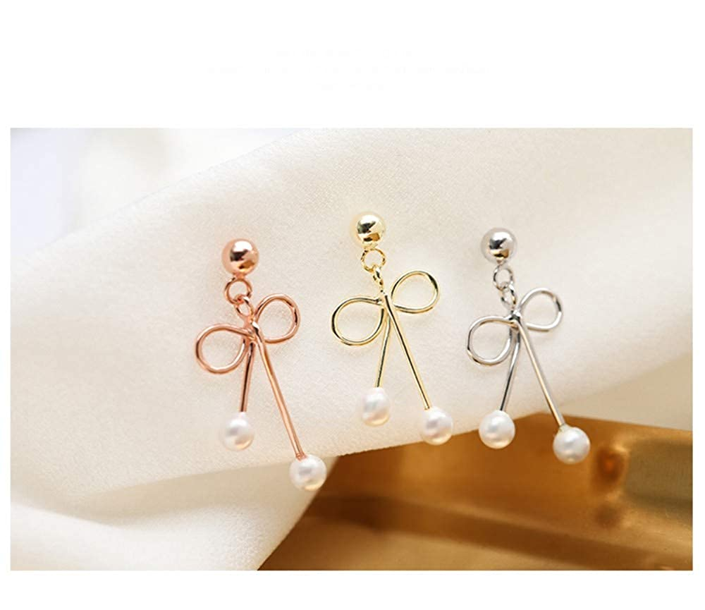 LSDAMW Earrings For Women Drop Dangle Girls Simple And Generous Moon Asymmetric Pearl Earrings Tassel Earrings
