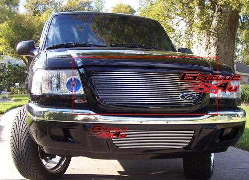 APS Compatible with 2001-2003 Ford Ranger XLT XL 2WD Billet Grille Insert S18-A52358F