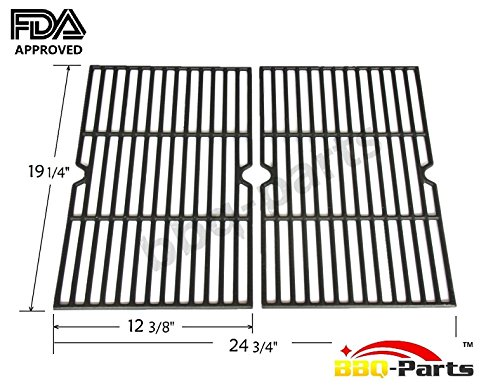 Hongso-PCB152-Universal-Gas-Grill-Grate-Cast-Iron-Cooking-Grid-Replacement-Sold-As-a-Set-of-2