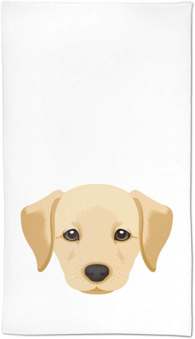 AOOEDM Cucciolo di Cane Divertente Labrador Retriever Asciugamani per Le Mani Asciugamano per Il Viso Asciugamano Morbido per Gli Ospiti Cucina Portatile Strofinacci per Il t/è Asciugamani Arredo bagn