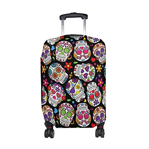 LAVOVO Day Of The Dead Sugar Skull Luggage Cover Suitcase Protector Carry On Covers