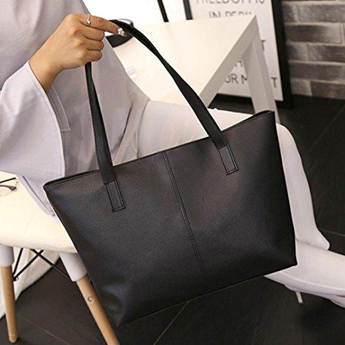 Mano Mujer Grandes de Bolsa Hombro ✦JiaMeng Bandolera de Bolso Bolso Shopper Negro Bolso Bag Bolsos Tote A5Y14wqq