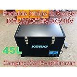 45L Portable Freezer/Fridge Camping Car Boat Caravan Truck Cooler 12V/24V/240V