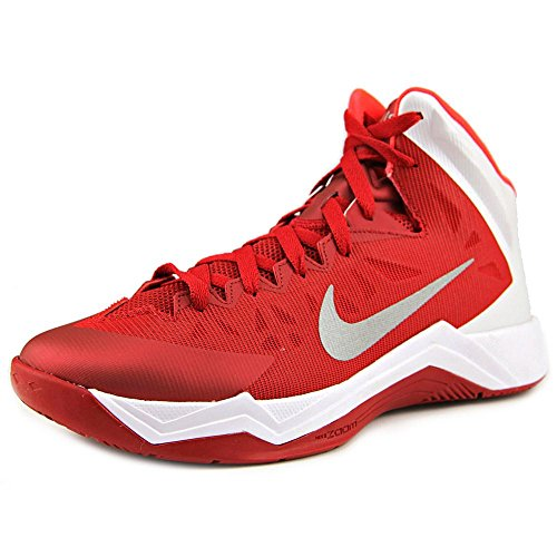 NIKE Mens Basketball Shoes Size 11 M 599420600 Zoom Hyperquickness Red Synthetic (Nike Grey Tops High Red And)