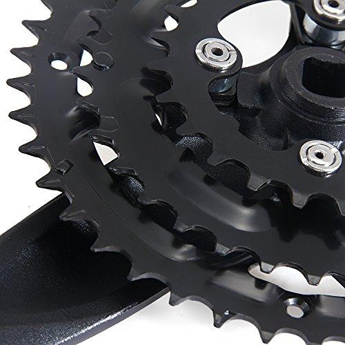 shsyue 42/34/24T Mountain Bicycle Bike Road MTB Crankset 170mm 7/8 Speed Aluminum Black by shsyue (Image #7)