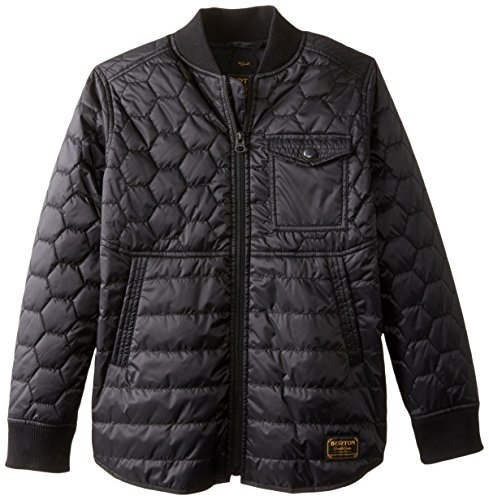 Burton Bomber (Burton Boys Mallett Jacket, Medium, True Black)