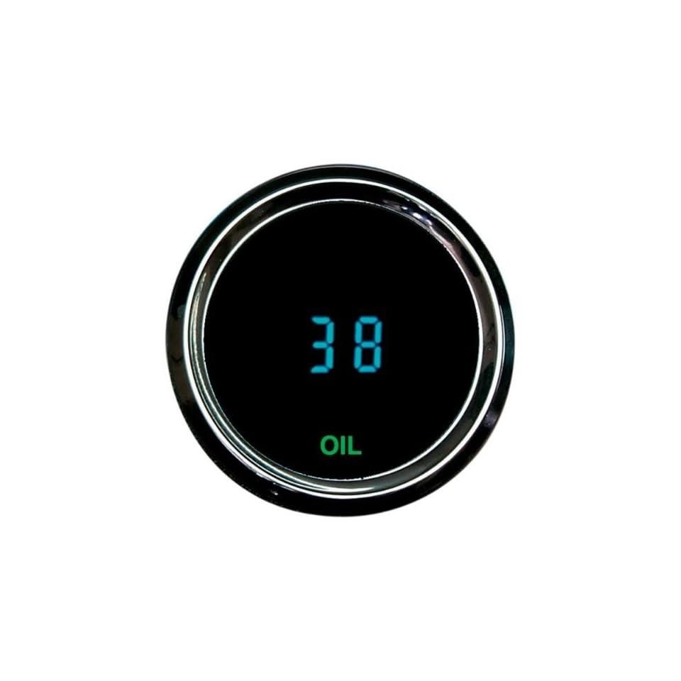 BKRider 3000 Series Oil Pressure Gauge(Range0   150 Psi Resolution 1 Psi) 2 1/16 Digital Instruments For Harley Davidson (ZZ DS 250028)