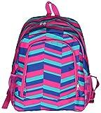 High Fashion Print Medium Sized BackpackCustom Personalization Available (Personalized Geometric Pink)