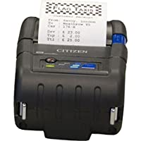 Citizen CMP-20BTU Model CMP-20 Portable Receipt Printer with Bluetooth, 3 LED to indicate battery status, Up to 80 mm (3.1) per second printing speed, 2 Printer Class Size, 48 mm/1.88 Printing width