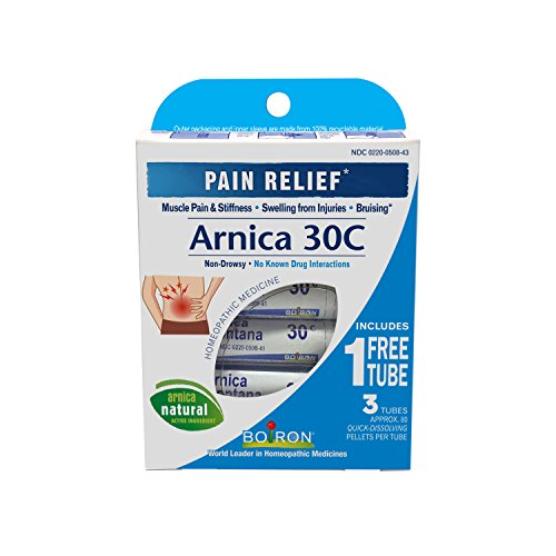 Boiron Arnica Montana 30C Pain Relief Medicine, 3 Count. Homeopathic, Quick-dissolving, for Neck Pain, Back Pain, Shoulder Pain, Leg and Foot Pain, Muscle Pain, Joint Pain Relief and Arthritis.