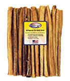 25 Pack 12 Inch Jumbo Natural Beef Bully Sticks For Dogs by Shadow River