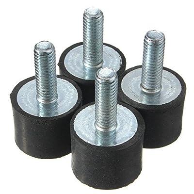 4pcs M8 30x20mm Rubber Shock Absorber Rubber Vibration Isolator Mounts