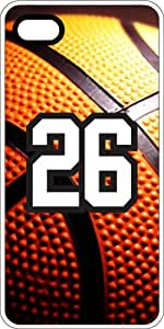 Basketball Sports Fan Player Number 25 Clear Rubber Decorative iPhone 4/4s Case