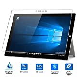 Taslar Premium Arc Edge Tempered Glass Screen Scratch Guard Protector For Microsoft Surface Pro 4, New Surface Pro 2017 (Transparent)