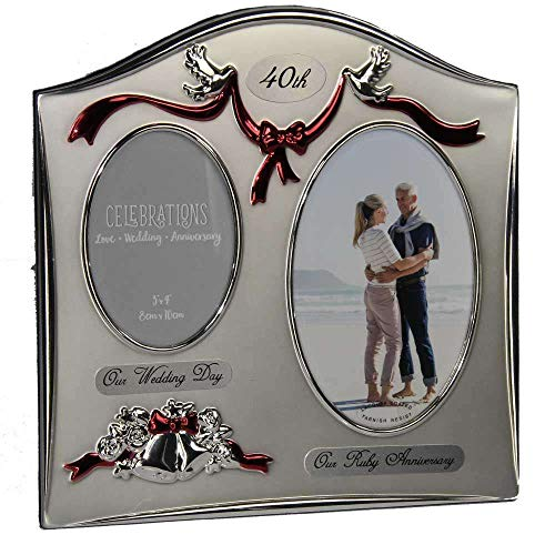 Anniversary Photo Frame Happy Anniversary 40th Ruby Wedding Anniversary