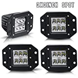 00 silverado 2500 grill - Bumper Grill Offroad Work Lights Spot 3X3 4.5In Flush Mount Pods Cube Reverse Backup Light Lower Auxiliary Driving Fog Lights For Honda Rv Fourtrax Boat 12-24V Rubicon Xterra 4Wheeler Toyota Jeep
