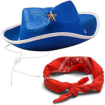 Funny Party Hats Sheriff Cowboy Hat - Cowboy Hat and Bandana - Cowboy Costumes - Western Costumes for Kids