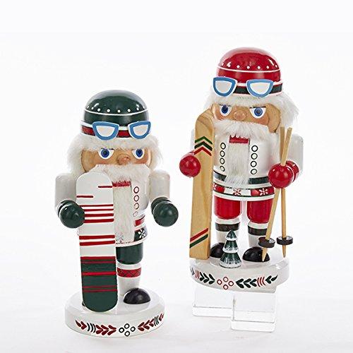 Kurt Adler 8'' Wooden Skier & Snowboarder Nutcrackers 2/asstd