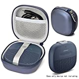#7: Midnight Blue Protective Case for Bose SoundLink Micro Bluetooth speaker, best Color and Shape matching, Featured Secure and Easy Pulling out Strap Design, Mesh pocket for Cable and accessorie