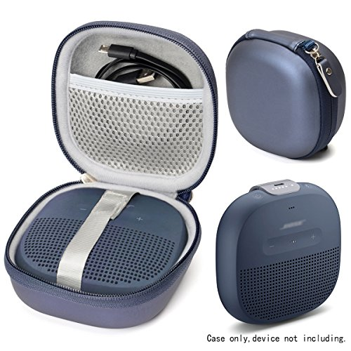 WGear Midnight Blue Protective Case for Bose SoundLink Micro Bluetooth speaker, best Color and Shape matching, Featured Secure and Easy Pulling out Strap Design, Mesh pocket for Cable and accessorie