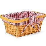 Woodchip Picnic Basket with Double Folding