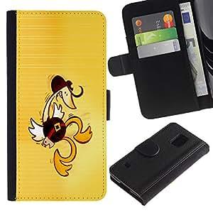 Stuss Case / Funda Carcasa PU de Cuero - Western Dancing Duck - Funny - Samsung Galaxy S5 V SM-G900