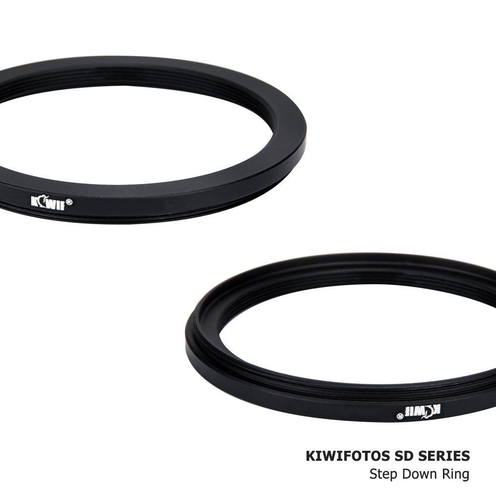 Kiwifotos 55mm-52mm Step-down Adapter Ring for Lenses 55mm Lens to 52mm Filter, Hood, Lens Converter and Other Accessories