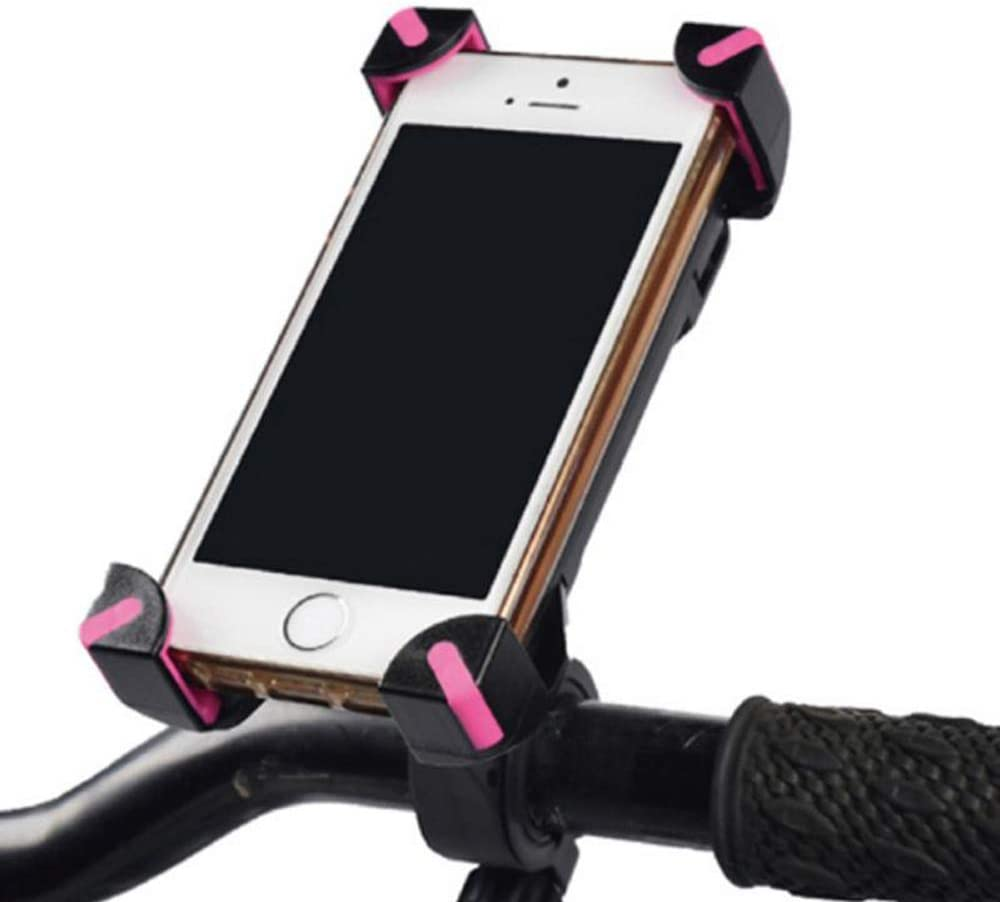 Color : Pink Xiao Jian Cell Phone Stand 1pcs Bicycle Accessories Handlebar Clip Mount Bracket Mobile Phone Bike Holder Stand for iPhone 4 4S 5 5s 6 6s Plus Mobile Phone Holder