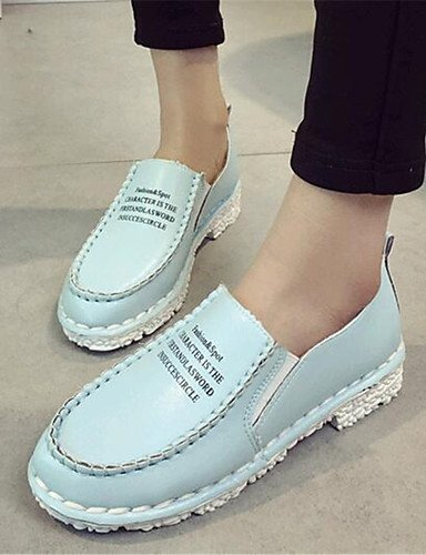 uk4 cn41 eu40 Casual gray Creepers Semicuero uk7 us6 Mocasines eu36 de ZQ Gris us9 Zapatos us9 gray mujer Blanco cn41 cn36 eu40 uk7 Rosa blue Exterior Azul Plataforma w0RFxT