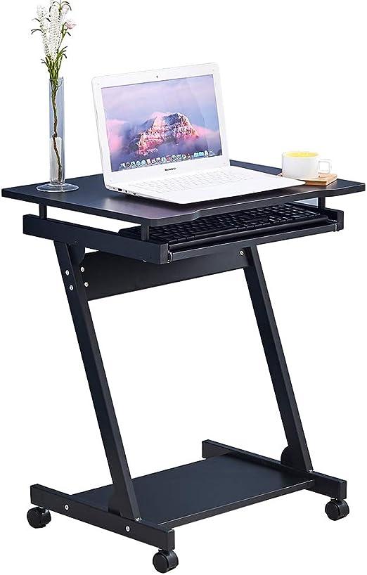 BOJU - Mesa de Ordenador portátil Ajustable con Ruedas pequeñas ...