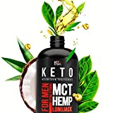 Extra Strong MCT Oil for Men. Includes 30% of Hemp Oil and Longjack Extract. Made of Natural Components. Made in The USA