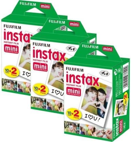 Fujifilm Instax Mini Film Bundle Pack (60 Fotos) Mini para Instax 8 50s 25 7S 90 300: Amazon.es: Electrónica
