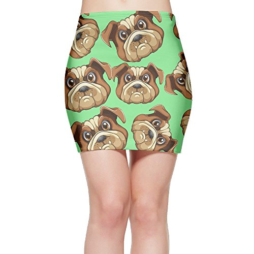 SKIRTS WWE American Bulldog Womens Slim Fit High Waist Mini Short Skirt by SKIRTS WWE