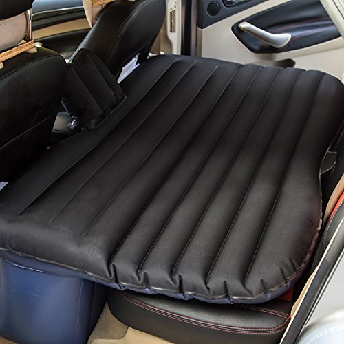 Goldhik Car Mobile Cushion Air Bed Oxford Fabric Inflatable Mattress Car Travel& Camping Universal Extended Air Couch Outdoor Sofa with Two Air Pillow (Black)