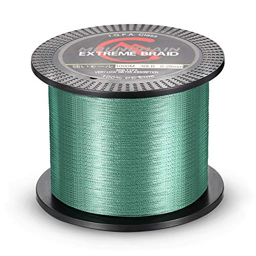 Mounchain 1000M Braided Fishing Line Abrasion Resistant Braided Lines 20LB