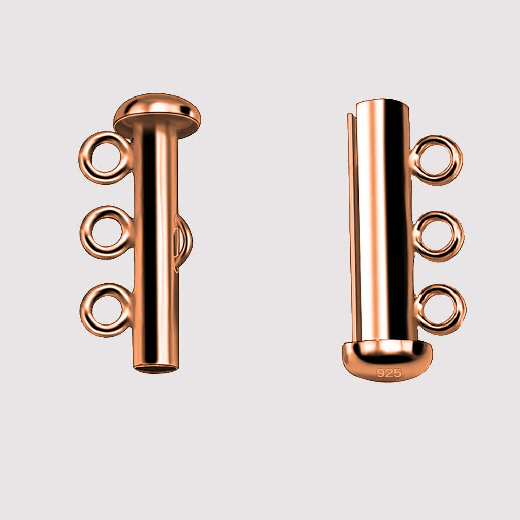 Multistrand Clasp,Haluoo Professional Layered Necklace Spacer Clasp Detangler Clasp Slide Magnetic Tube Lock Jewelry Connectors Women Mens Girls Jewelry Accessories,5mm.