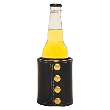 Amazon.com: Color Blanco Ala piel Bebida Coozie Botella ...