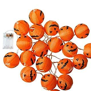 Halloween Lights, Halloween Decorations Fairy Lights 20 Led Pumpkin Lanterns Battery Powered String Lights(10FT)