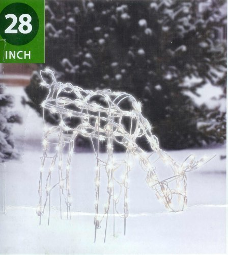 "Holiday Time 28"" Tall Feeding Doe Light Sculpture Christmas"