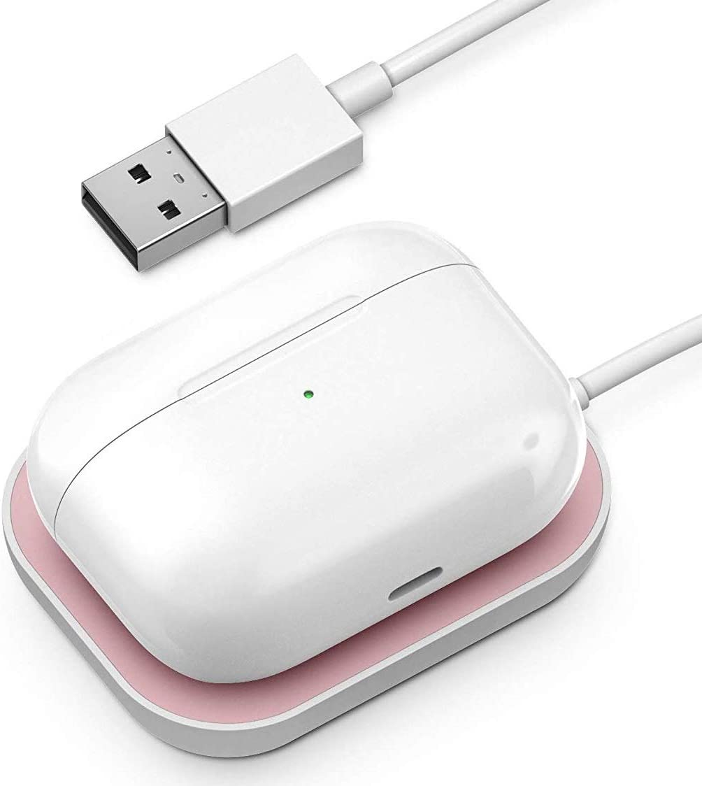 Galvanox Airpods Pro Charger - Wireless Charging Station for Apple Airpod Pro (Pink)