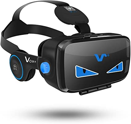 Amazon Com Vr Goggles With Headphones 3d Virtual Reality Goggles Vr Headset Iphone 7 Plus 6 5 Vr Headset For Samsung Phones Vox Fe 3d Vr Goggles Are A