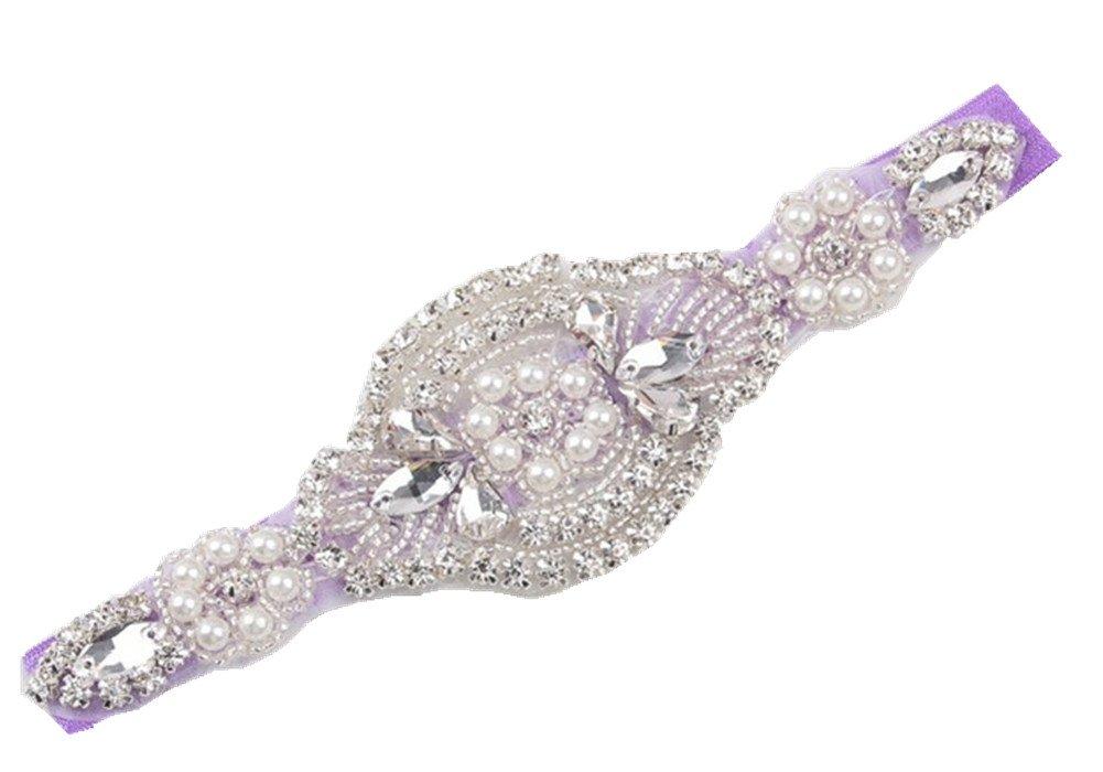 Shop Ginger Wedding Girls Bridal Rhinestones Headband Prom Piece Hairband HB1 (Adult, Purple)