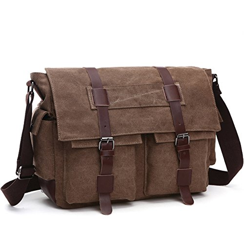 DREAM.ELK Laptop Briefcases 13.3-15.6 Inch Messenger Bag Handbag Include shoulder strap Sleeves Shoulder Bags Men Women for Notebook MacBook Ultrabook Chromebook Computers,15.6 - Brown Elk