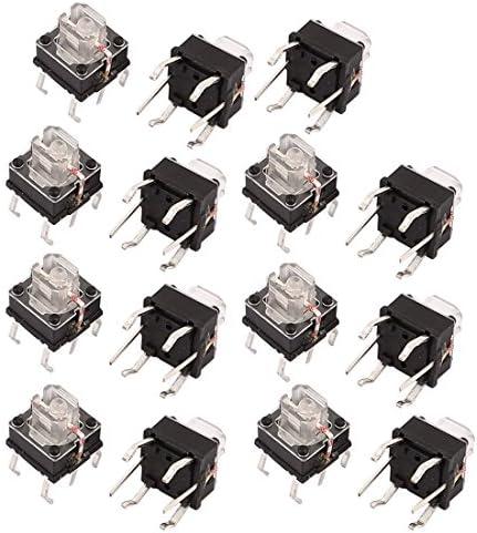 uxcell タクトスイッチ 押しボタンスイッチ ボタンスイッチ 6mmx6mm パネルPCB 6ピン DIP 15個入