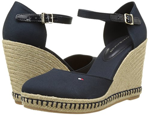 midnight women's Toe 403 E1285mma Blue Wedge Closed Tommy Sandals Hilfiger FUH8qn4w4